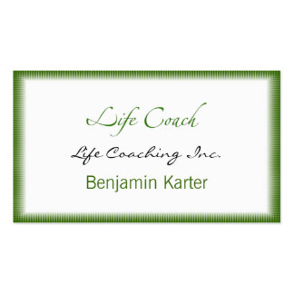 Life Coach Text Swash Business Card Templates