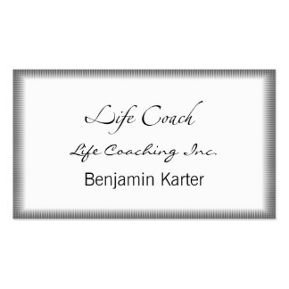 Life Coach Text Swash Business Card