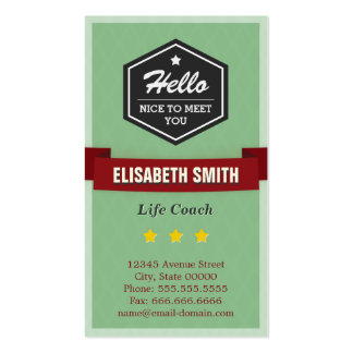 Life Coach  - Vintage Retro Stylish Pack Of Standard Business Cards