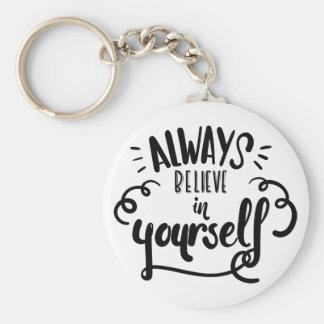 Life Confidence  Attitude Goals Motivational Quote Keychain