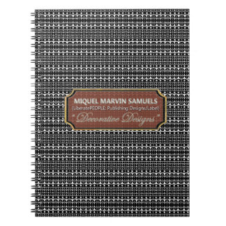 Life Decorative Black White Modern Notebook