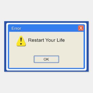 Life Error Sticker
