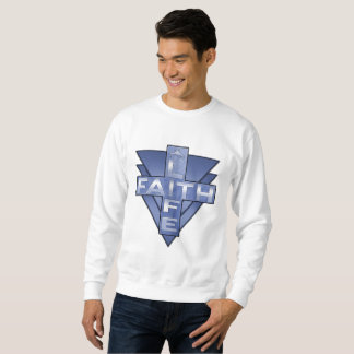 Life/Faith Blue Victory Design Sweatshirt