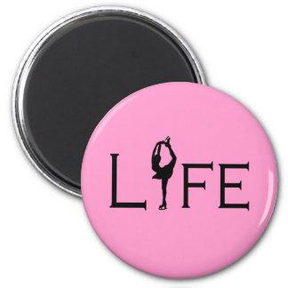 LIFE (Figure Skater) PINK Magnet