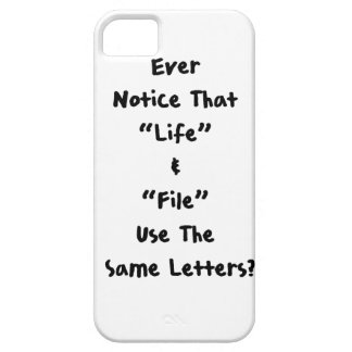 Life & File iPhone 5 Cover