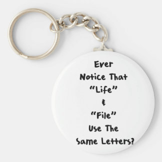Life & File Keychain