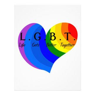 Life Gets Better Together LGBT Pride Custom Letterhead