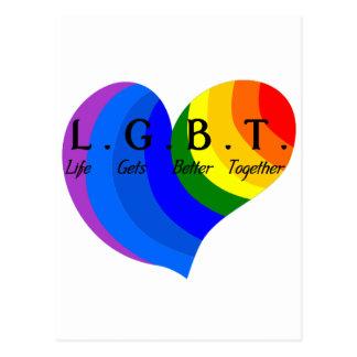 Life Gets Better Together LGBT Pride Postcard