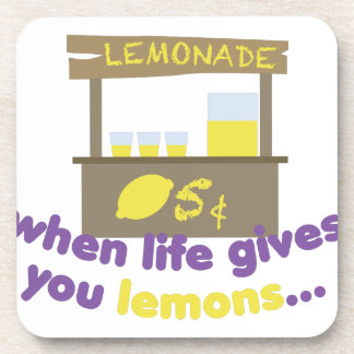 Life Gives Lemons Drink Coaster
