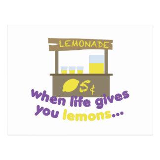 Life Gives Lemons Postcard