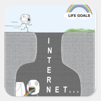 Life Goals vs. Internet. Funny Stickers