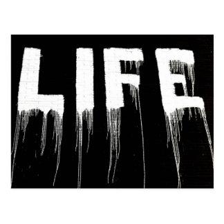 Life Graffiti Drips Postcard