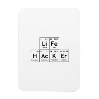 LiFe HAcKEr Chemistry Elements Periodic Table Word Magnet