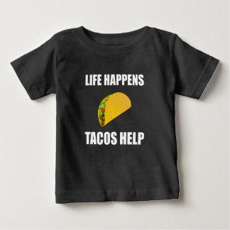 Life Happens Tacos Help Baby T-Shirt