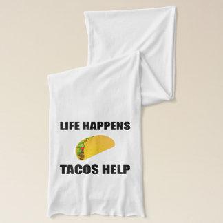 Life Happens Tacos Help Scarf
