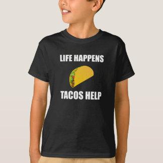 Life Happens Tacos Help T-Shirt