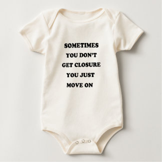 life has no remount gat up and change your self baby bodysuit