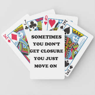 life has no remount gat up and change your self bicycle playing cards