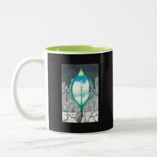 Life in a Leaf -(phrase on back) Two-Tone Coffee Mug