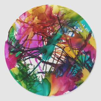 Life in Color Classic Round Sticker