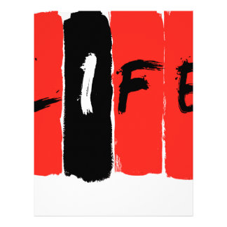 Life (in red) letterhead template