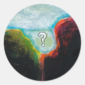 Life in the Abscess original abstract modern art Round Sticker