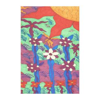 Life in the Garden Boho Art Canvas Print