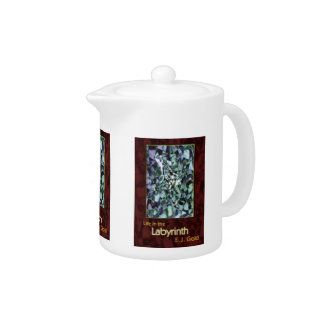 Life in the Labyrinth Tea Pot