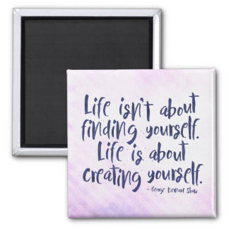 Life - inspirational typography style quote magnet