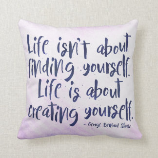 Life - inspirational typography style Throw Pillow