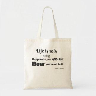 Life is 10% totebag tote bag