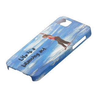 Life is a balancing act phone case
