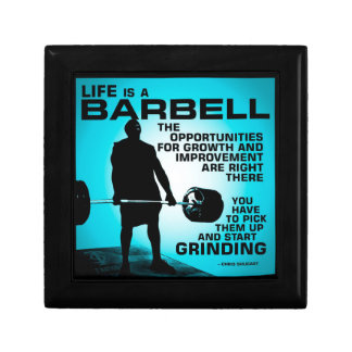 Life Is A Barbell - Workout Gym Inspirational Gift Box