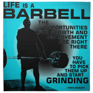 Life Is A Barbell - Workout Gym Inspirational Napkin