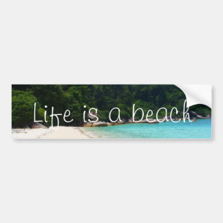 Life is a Beach Bumper Sticker
