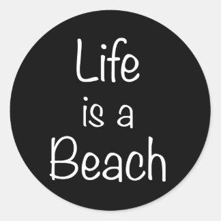 Life is a Beach Print Sticker