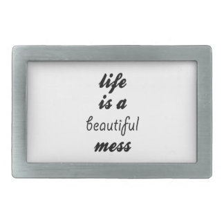 Life Is A Beautiful Mess Belt Buckle