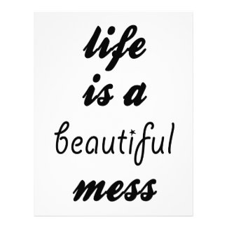 Life Is A Beautiful Mess Customized Letterhead