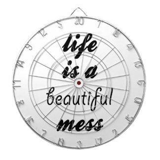 Life Is A Beautiful Mess Dartboard