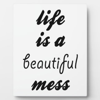 Life Is A Beautiful Mess Plaque