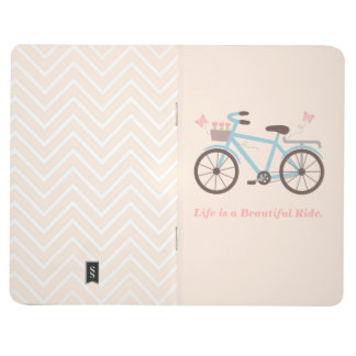 Life is a Beautiful Ride Bicycle Notebook Journal
