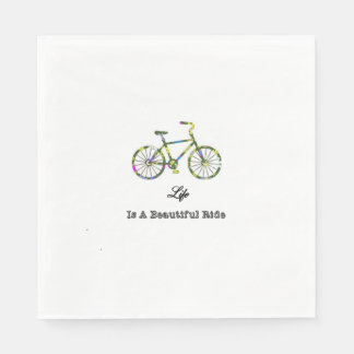 Life Is A Beautiful Ride Disposable Napkins