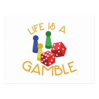Life Is A Gamble Postcard