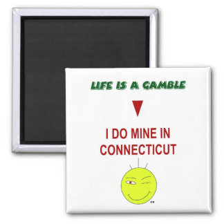 Life Is A Gamble - Square Magnet