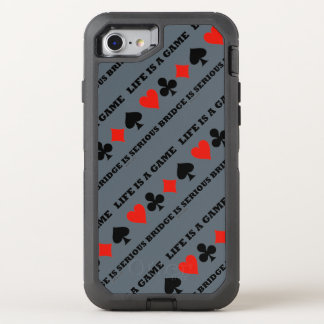Life Is A Game Bridge Is Serious Card Suits OtterBox Defender iPhone 8/7 Case