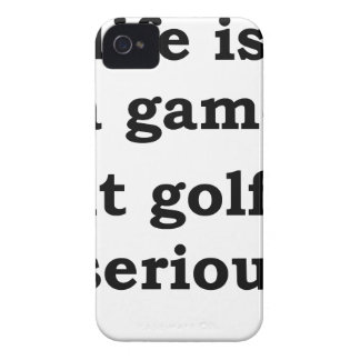 life is a gmae but golf is serious iPhone 4 cover