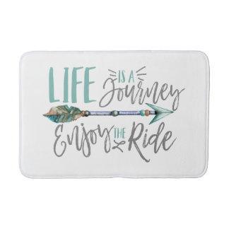 Life is a Journey Enjoy the Ride Boho Wanderlust Bath Mat