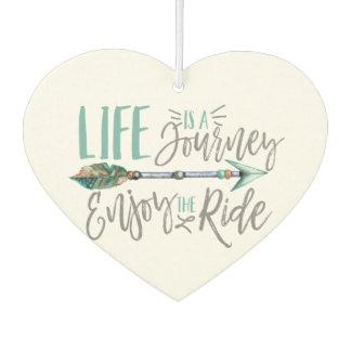 Life is a Journey Enjoy the Ride Boho Wanderlust Car Air Freshener