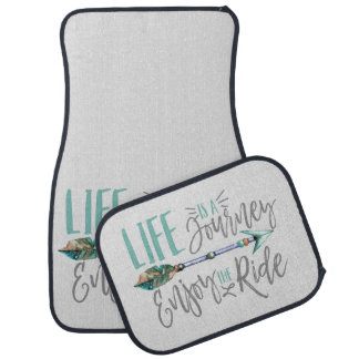 Life is a Journey Enjoy the Ride Boho Wanderlust Car Mat
