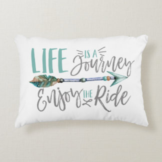 Life is a Journey Enjoy the Ride Boho Wanderlust Decorative Pillow